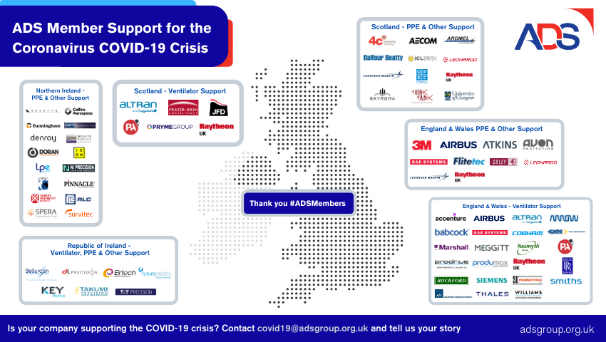 Eirtech ADS member support for the COVID-19 crisis